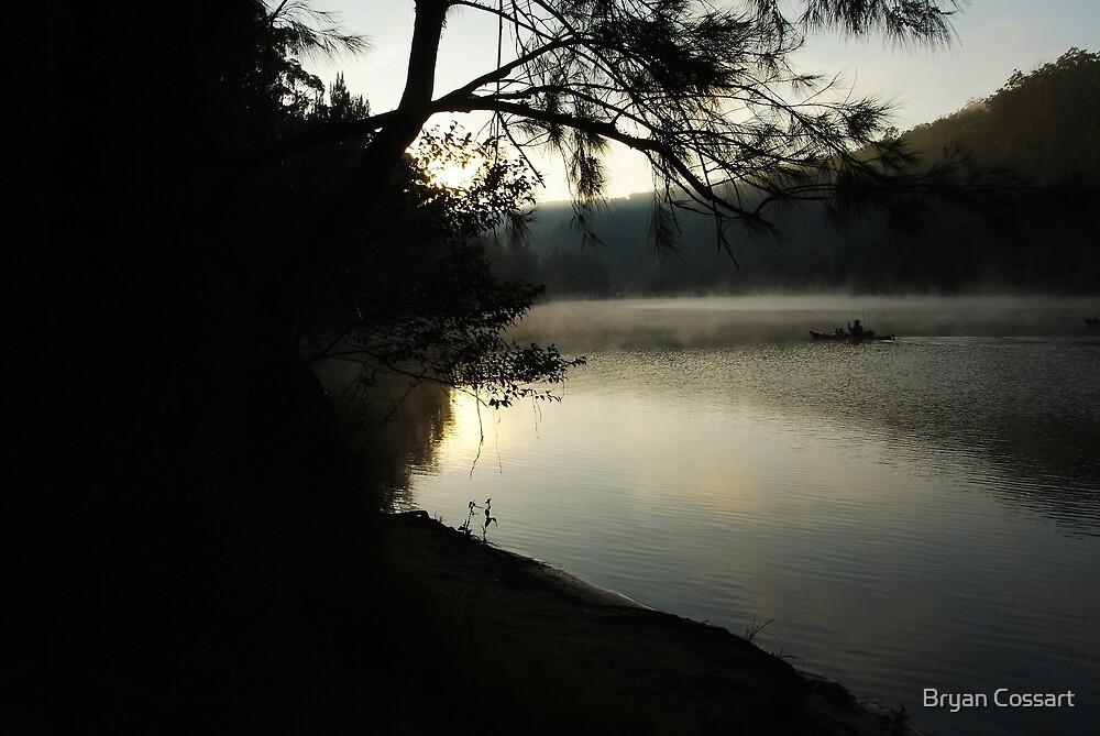 Silhouette Fisherman by Bryan Cossart