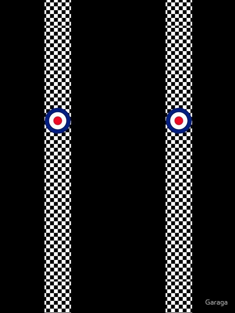 Classic Target Roundel Racing Checkers by Garaga