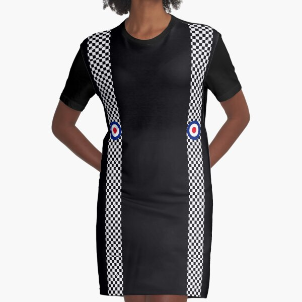 Classic Target Roundel Racing Checkers Graphic T-Shirt Dress