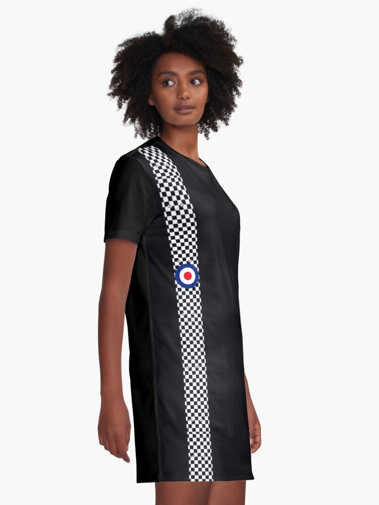 Alternate view of Classic Target Roundel Racing Checkers Graphic T-Shirt Dress
