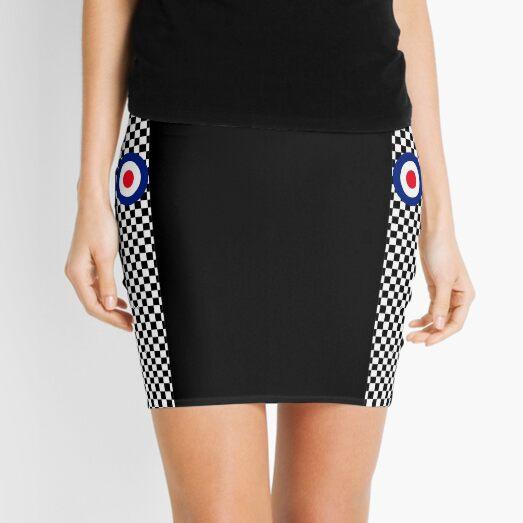 Classic Target Roundel Racing Checkers Mini Skirt