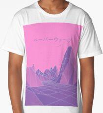80s Vaporwave Retro Pink Long T-Shirt