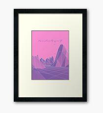 80er Jahre Vaporwave Retro Pink Gerahmtes Wandbild