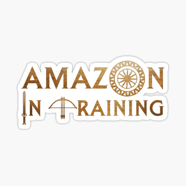 Amazon In Training Sticker