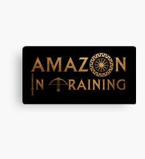 Amazon In Training Canvas Print