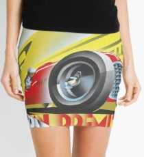 1949 Italian Grand Prix Racing Poster Mini Skirt