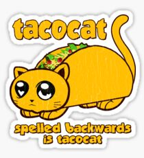 Funny - Tacocat Spelled Backwards (vintage look) Sticker