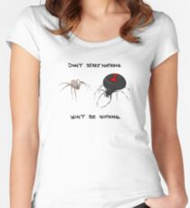 Don't start nothing, won't be nothing. (for light tees) Women's Fitted Scoop T-Shirt