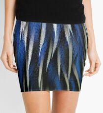 Cobalt Feathers Mini Skirt