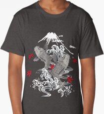 Japanese Koi Graphic Design Long T-Shirt