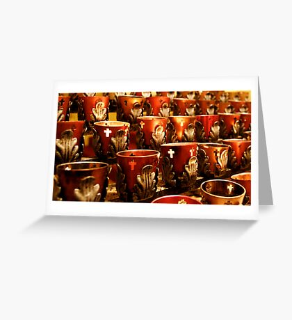 Altar Candles Greeting Card