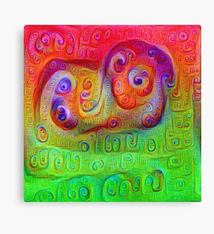 DeepDream Red to Green 5K Canvas Print