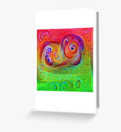 DeepDream Red to Green 5K Greeting Card