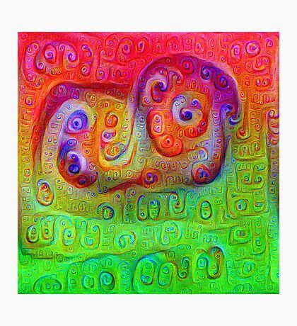 DeepDream Red to Green 5K Photographic Print