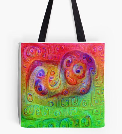 DeepDream Red to Green 5K Tote Bag