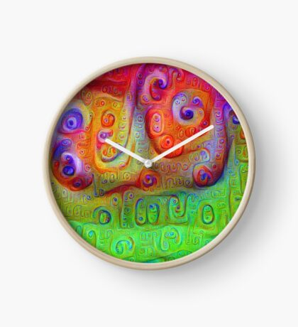 DeepDream Red to Green 5K Clock