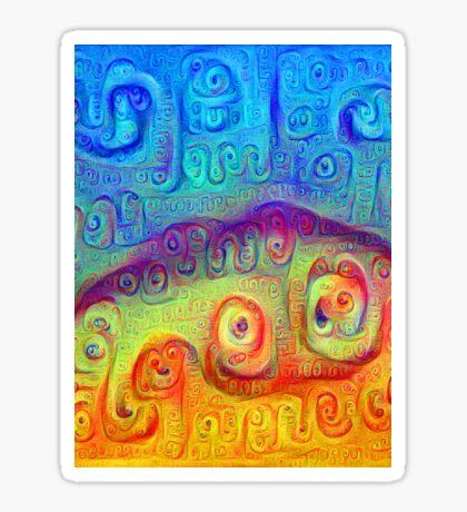 DeepDream Blue to Orange 5K Sticker