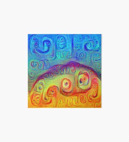DeepDream Blue to Orange 5K Art Board