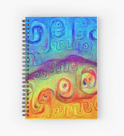 DeepDream Blue to Orange 5K Spiral Notebook