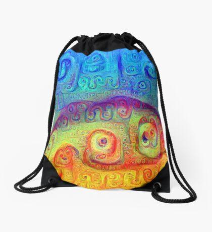 DeepDream Blue to Orange 5K Drawstring Bag