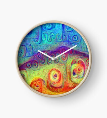 DeepDream Blue to Orange 5K Clock