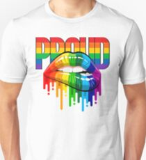 proud Rainbow Lips Pride Unisex T-Shirt