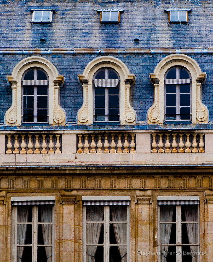 Windows of Paris by Stephane-Franck Berthelot