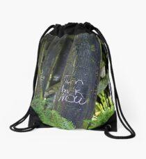Turn Back Now Drawstring Bag