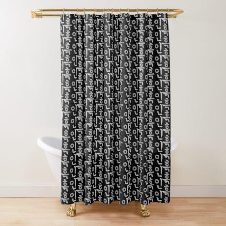 Blasian (Korean) Third Culture Series Shower Curtain