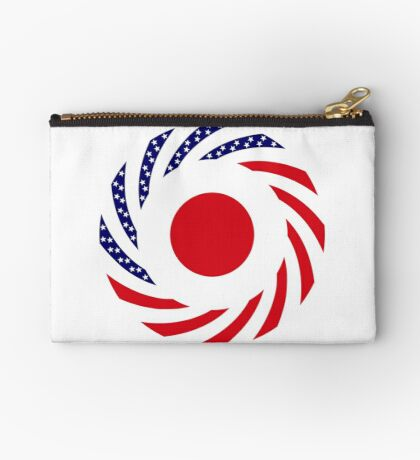 Japanese American Multinational Patriot Flag Series Zipper Pouch