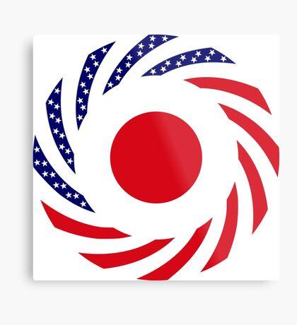 Japanese American Multinational Patriot Flag Series Metal Print