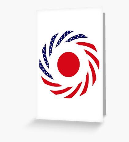 Japanese American Multinational Patriot Flag Series Greeting Card