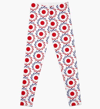 Japanese American Multinational Patriot Flag Series Leggings