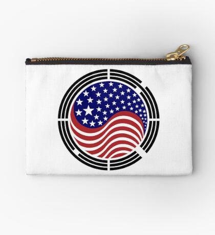 Korean American Multinational Patriot Flag Series Zipper Pouch