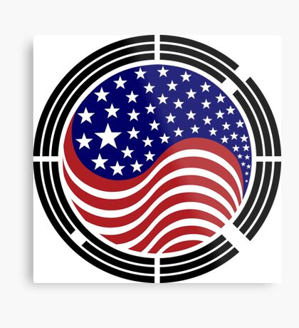 Korean American Multinational Patriot Flag Series Metal Print