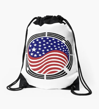Korean American Multinational Patriot Flag Series Drawstring Bag