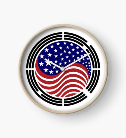 Korean American Multinational Patriot Flag Series Clock