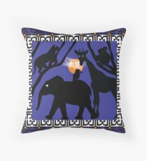 Twilight at the Zoo Throw Pillow
