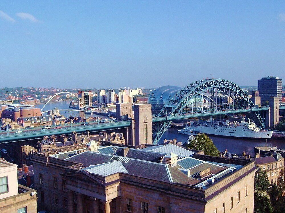 Newcastle Skyline from Castletop by mcbirdie