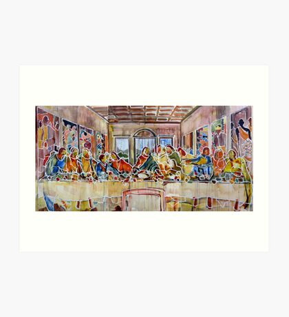 United Colours of Religion: The First Supper Art Print