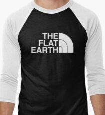 Camiseta ¾ bicolor para hombre La Tierra plana