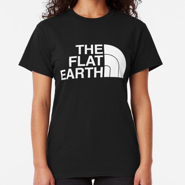 Ladies T-Shirt FLAT AF Flat Earth World Space Novelty Conspiracy Theories