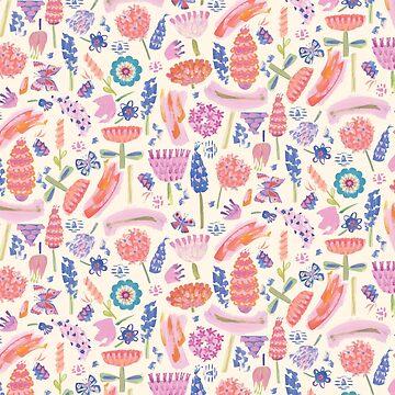 Bright Flower Power Semi Abstract Pattern by GabsBuckingham