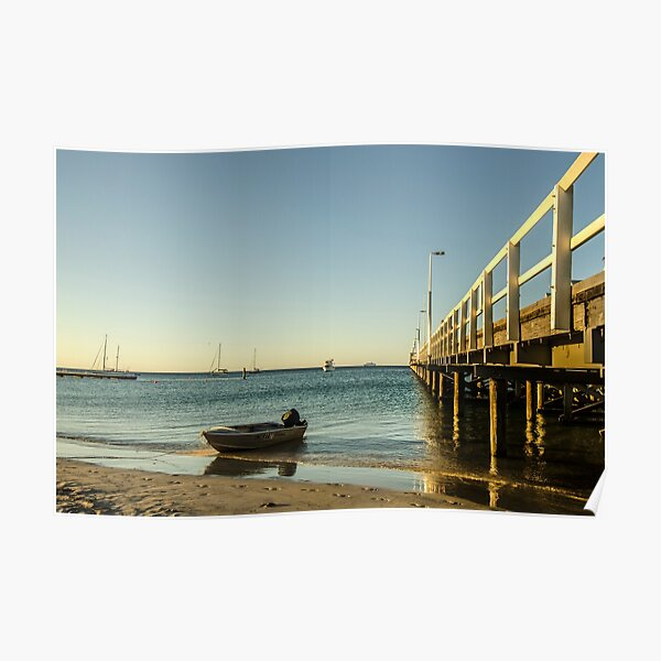 Tinny at the Jetty Poster
