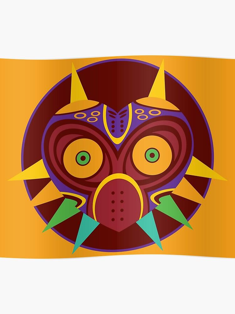 The legend of zelda majora's mask vector   Poster
