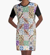 Cement tiling Graphic T-Shirt Dress