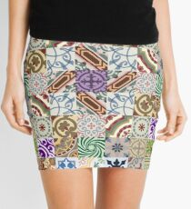 Cement tiling Mini Skirt