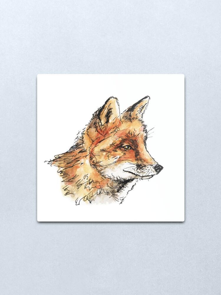 Alternate view of Fox Casual Metal Print
