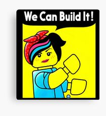 we can build it teefury Canvas Print