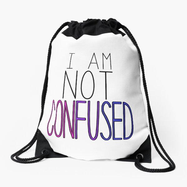 I am not confused - Bisexual Pride Drawstring Bag